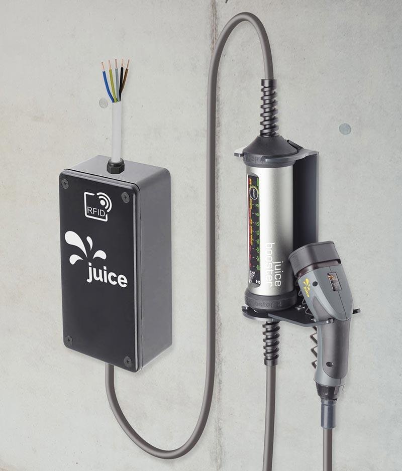 Neu im Sortiment und KfW-förderfähig: der JUICE CHARGER easy. Bildquelle: Juice Technology AG