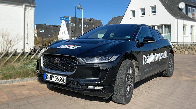 Symbolbild: Jaguar Elektroauto auf Sylt