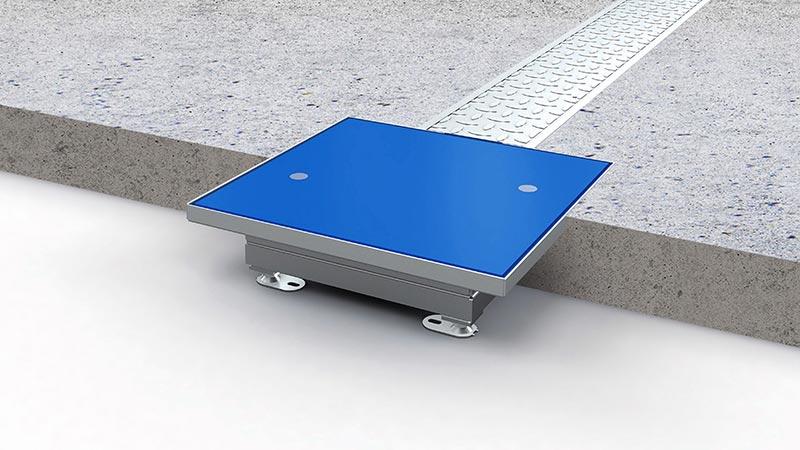 Robust und bodenbündig: das WCPS von PUK ist für raue Umgebungen mit intensiven Lastwechselvorgängen geeignet. Foto: PohlCon/ PUK