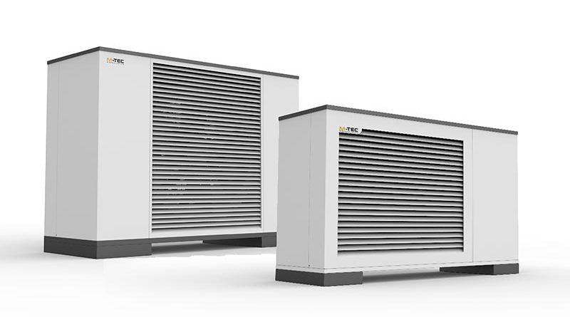 Leistungsstark: M-TEC baut sein Portfolio im oberen Leistungsbereich aus, hier die neuen Luftwärmepumpen der Power-Serie. Bildquelle: M-TEC GmbH