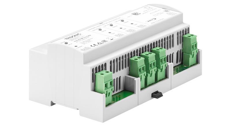 Für das neue Notbeleuchtungssystem kombiniert Tridonic die Casambi-Ready-Steuerungstechnologie basicDIM Wireless mit der DALI-basierten Lichtsteuerung sceneCOM. Bildquelle: Tridonic