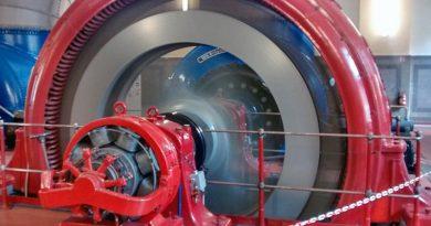 Generator des Saalachkraftwerkes in Bad Reichenhall. Quelle: VBEW