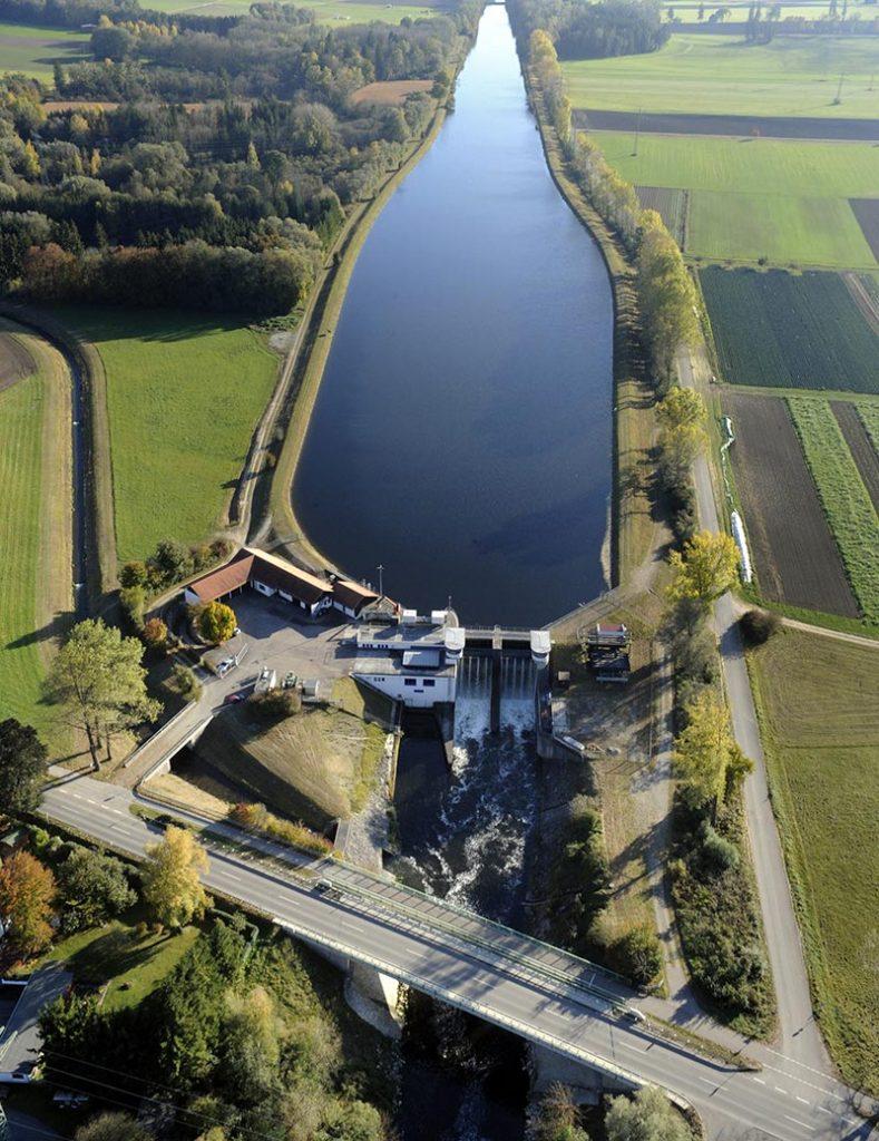 Wasserkraftwerk Schwabmünchen. Quelle: VBEW