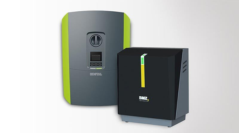 Kostal Plenticore Wechselrichter und BMZ-Stromspeicher. Bildquelle: Kostal / BMZ