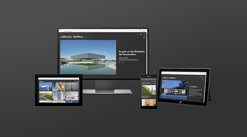 Neue Internetseite von Werner Sobek: Dressed in black