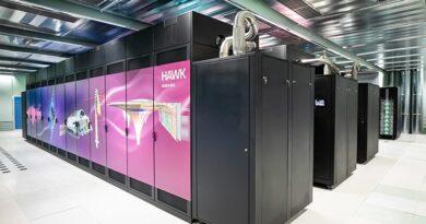 Supercomputer Hawk des HLRS (gefördert vom BMBF und MWK). Bildquelle HLRS
